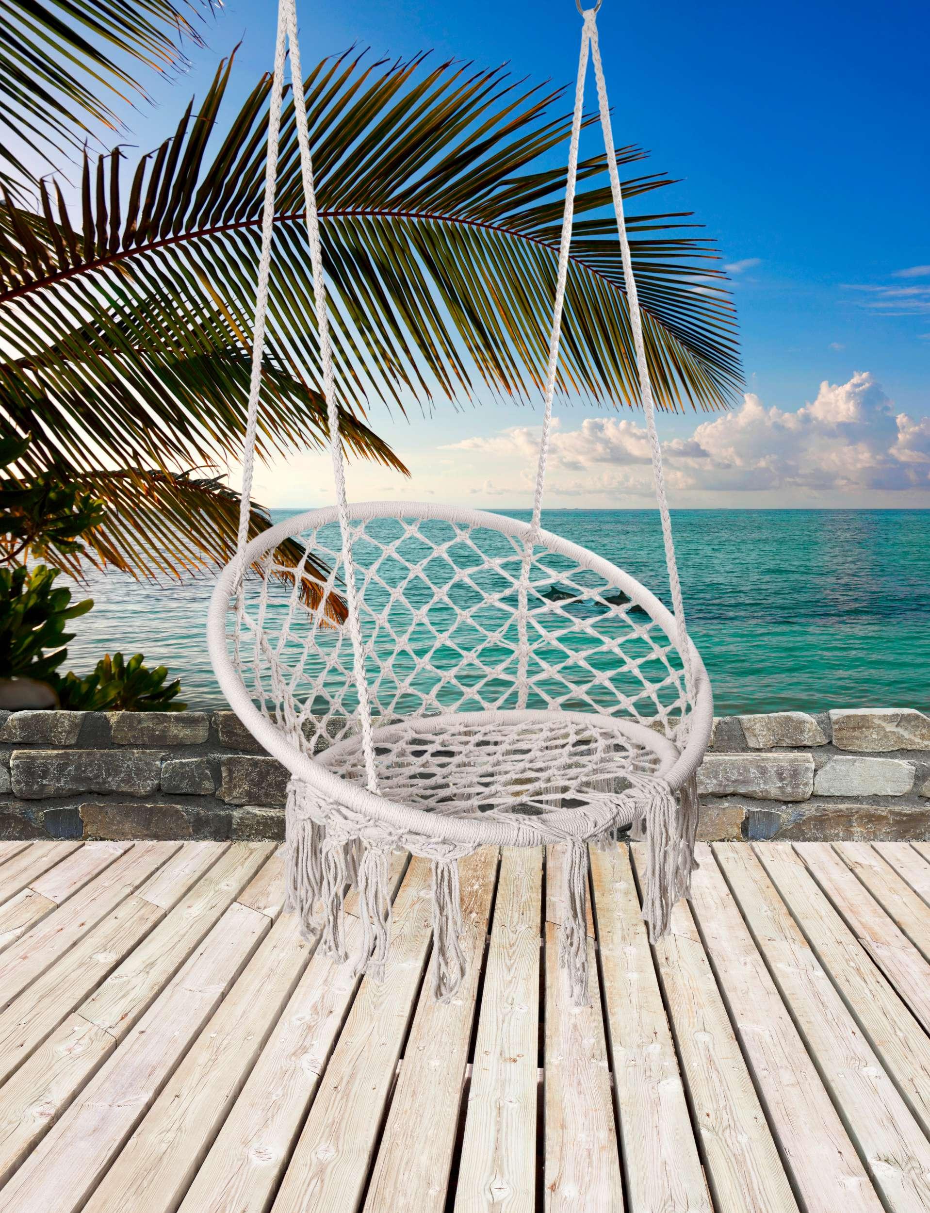 Krzesło fotel wiszący huśtawka TOGO CREAMY