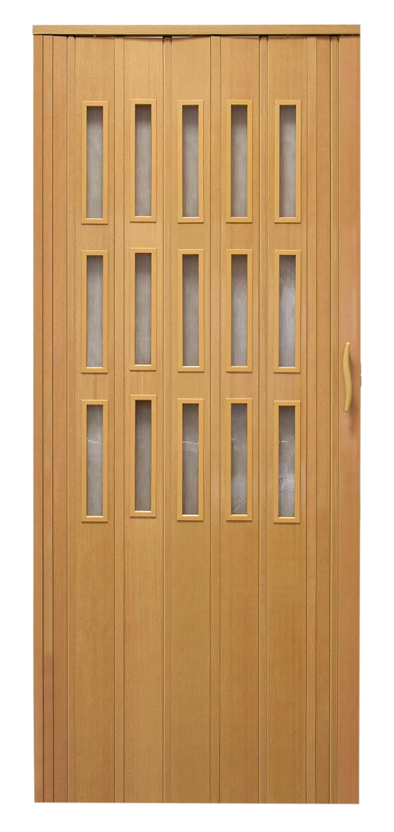 Drzwi harmonijkowe 008S 8671 Buk Mat 80 cm