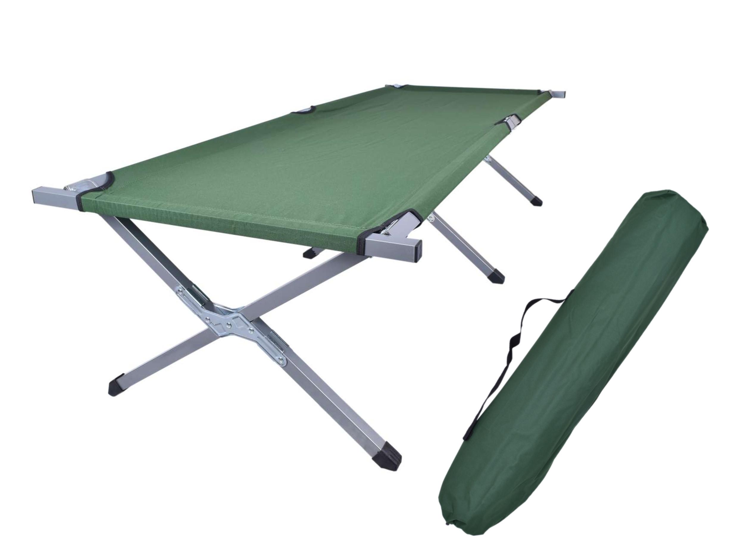 łóżko Polowe Turystyczne Teo Xl 210x77 Cm Zielony Tohurtpl